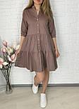 Жіноче легке коттоновое сукня вільного крою на гудзиках (Норма і батал), фото 3