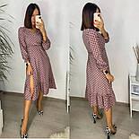 Женское стильное легкое платье из софта длины с разрезом (Норма), фото 5