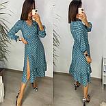 Женское стильное легкое платье из софта длины с разрезом (Норма), фото 3