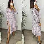 Женское стильное легкое платье из софта длины с разрезом (Норма), фото 4