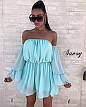 Женское нежное шифоновое платье с открытыми плечами в расцветках (Норма), фото 2