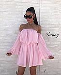 Женское нежное шифоновое платье с открытыми плечами в расцветках (Норма), фото 4