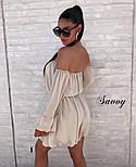 Женское нежное шифоновое платье с открытыми плечами в расцветках (Норма), фото 7