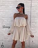 Жіноче ніжне шифонове плаття з відкритими плечима в кольорах (Норма), фото 7