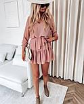 Женское нежное шифоновое платье с поясом в расцветках (Норма), фото 2