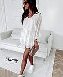 Женское нежное шифоновое платье с поясом в расцветках (Норма), фото 6