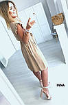 Женское нежное платье из софта с поясом (Норма и батал), фото 8