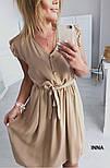 Женское нежное платье из софта с поясом (Норма и батал), фото 9