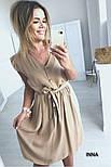 Женское нежное платье из софта с поясом (Норма и батал), фото 10