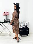 Жіноче видовжене шифонова сукня з вирізом на квітковий принт (Норма), фото 2