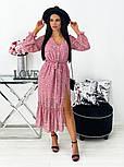 Жіноче видовжене шифонова сукня з вирізом на квітковий принт (Норма), фото 5