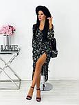 Жіноче видовжене шифонова сукня з вирізом на квітковий принт (Норма), фото 10