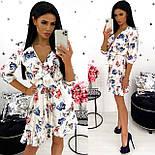 Жіноче стильне міні сукня з квітковим принтом (Норма), фото 2