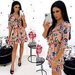 Жіноче стильне міні сукня з квітковим принтом (Норма), фото 3