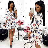 Жіноче стильне міні сукня з квітковим принтом (Норма), фото 4