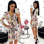 Жіноче стильне міні сукня з квітковим принтом (Норма), фото 5