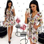Жіноче стильне міні сукня з квітковим принтом (Норма), фото 6