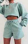 Женский спортивный костюм с шортами и свитшотом (Норма), фото 3