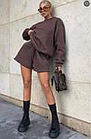 Женский спортивный костюм с шортами и свитшотом (Норма), фото 4