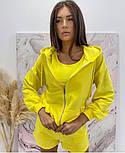 Стильний жіночий спортивний костюм-трійка з шортами (Норма), фото 6