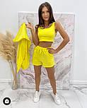 Стильний жіночий спортивний костюм-трійка з шортами (Норма), фото 7