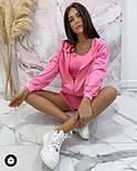 Стильний жіночий спортивний костюм-трійка з шортами (Норма), фото 8