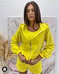 Стильний жіночий спортивний костюм-трійка з шортами (Норма), фото 9