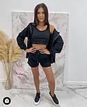 Стильний жіночий спортивний костюм-трійка з шортами (Норма), фото 10