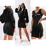 Жіноче стильне плаття-двійка у наборі з кофтою (Норма), фото 2