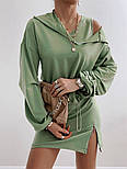Женское стильное платье-двойка в наборе с кофтой (Норма), фото 8