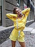 Женский плюшевый спортивный костюм-тройка с топом (Норма), фото 6
