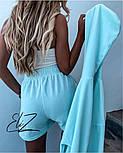 Женский стильный плюшевый костюм-тройка с шортами (Норма), фото 4