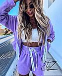 Женский стильный плюшевый костюм-тройка с шортами (Норма), фото 9