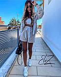 Женский стильный плюшевый костюм-тройка с шортами (Норма), фото 10