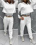 Трендовый женский спортивный костюм из двухнити с майкой в комплекте (Норма), фото 3