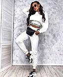 Трендовый женский спортивный костюм из двухнити с майкой в комплекте (Норма), фото 4