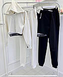 Трендовый женский спортивный костюм из двухнити с майкой в комплекте (Норма), фото 6
