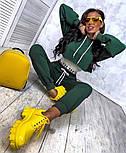 Трендовый женский спортивный костюм из двухнити с майкой в комплекте (Норма), фото 7