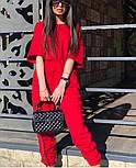 Стильный женский спортивный костюм  с рукавами три четверти и штанами на манжетах (Норма и батал), фото 8