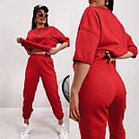 Женский ультрамодный спортивный костюм с наружными швами и штанами на манжетах (Норма и батал), фото 4