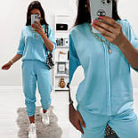 Женский ультрамодный спортивный костюм с наружными швами и штанами на манжетах (Норма и батал), фото 6