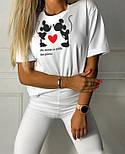 Стильний жіночий костюм з футболкою і велосипедками (Норма), фото 5