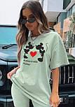 Стильний жіночий костюм з футболкою і велосипедками (Норма), фото 7