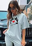 Стильний жіночий костюм з футболкою і велосипедками (Норма), фото 9