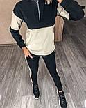 Жіночий костюм стильний двоколірний з лампасами (Норма), фото 6