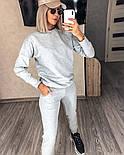 Костюм женский спортивный однотонный из турецкой двунити (Норма), фото 2