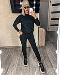 Костюм женский спортивный однотонный из турецкой двунити (Норма), фото 4