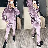 Женский стильный велюровый костюм в расцветках (Норма и батал), фото 6