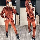 Женский стильный велюровый костюм в расцветках (Норма и батал), фото 7
