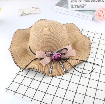 Женская пляжная летняя шляпа Flower sun brown